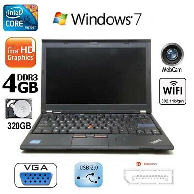 ULTRA FAST Lenovo Thinkpad X220 Laptop Windows 7 Office Core i5 320GB HDD Webcam