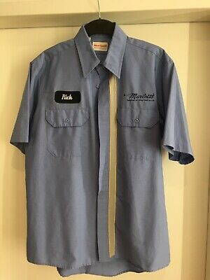2x Wearguard Workshirts Kurzarm Arbeiterhemden Made in USA in schwarz/blau M/L