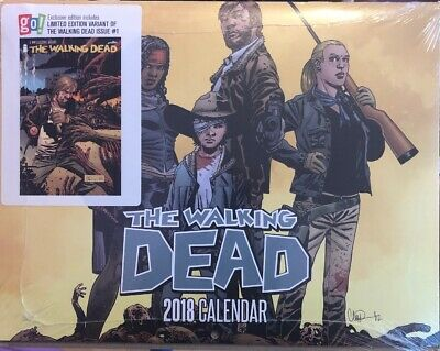The Walking Dead 1 Go Calendar Club Exclusive Variant With 2018 Calendar Sealed