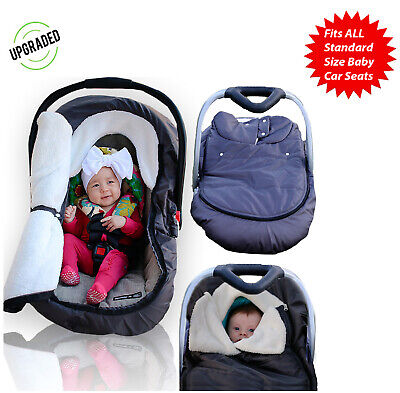 Winter Baby Car Seat Cover Infant Cozy Cold Canopy for Boys Girls Universal Fit