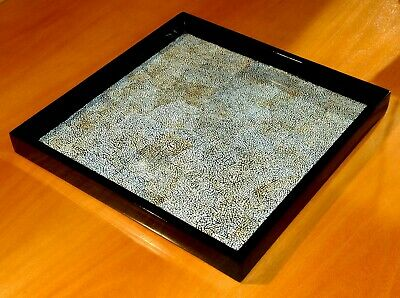 Elegant lacquered oriental  tray
