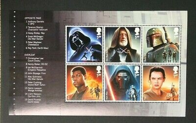 2015 Star Wars Prestige Stamp Book Pane Ex DY15.  MNH.