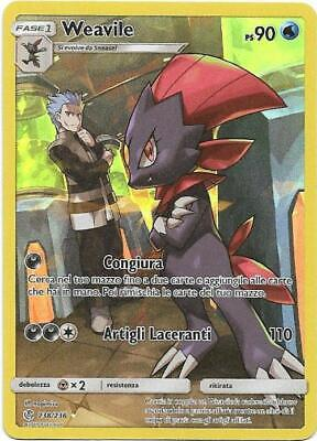 Pokemon Weavile 238/236 Rara Segreta Full Art Holo Eclissi Cosmica