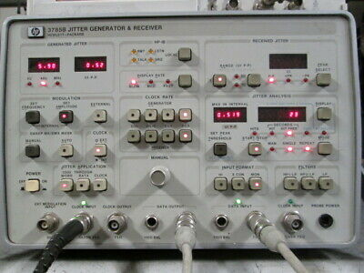 HP 3785B Jitter Generator Receiver Demonstrator TESTED! Adapters included