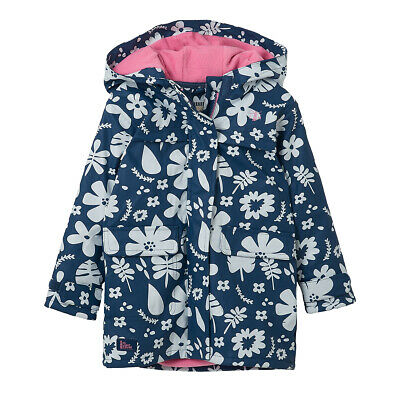 Lighthouse Amy Junior Girls Waterproof Raincoat, Blue Floral