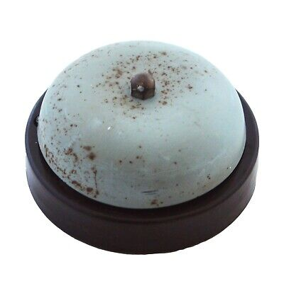 "Antique Vintage Door bell electric Bakelite telephone alarm butler salvage 3"" -"