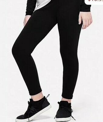 Nwt Girls Justice Fleece Lined Leggings Black Size 14/16