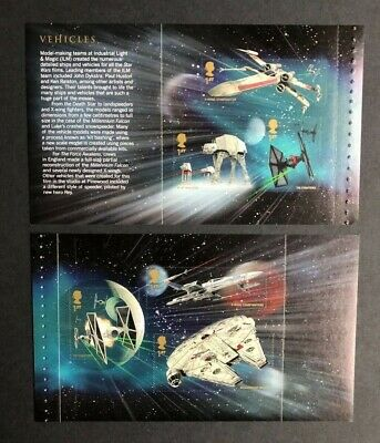 2015 Star Wars Two Self Adhesive Panes from DY15 Prestige Book. Unmounted Mint.