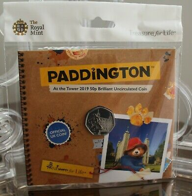 2019 Paddington At the Tower BU 50p Fifty Pence Royal Mint Pack - New - Sealed