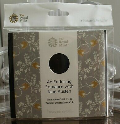 2017 Royal Mint Jane Austen £2 Two Pound BU Empty (No coin) Pack