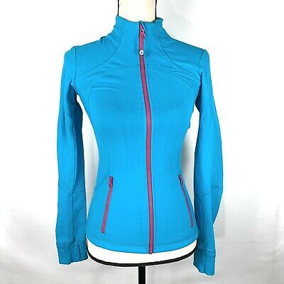 Lululemon Womens Define Forme II Jacket Size 4 Blue Full Zip Thumbholes