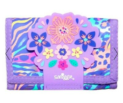 """NEW! Smiggle SCENTED Kid's Wallet Purse💜 """"Explore"""", Pop"""