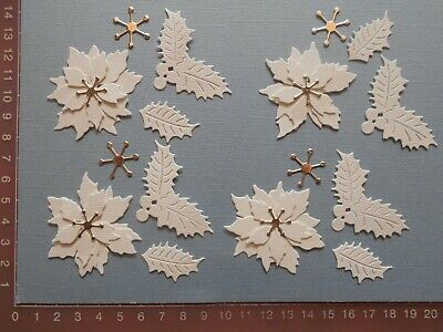 Die Cuts - Poinsettia - Flower - Christmas - Largest Flower 5 cms. approx.  (3)