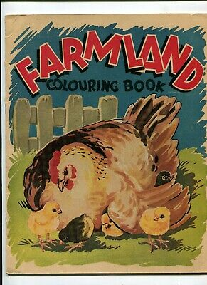 Australian Childrens book Farmland Colouring Book