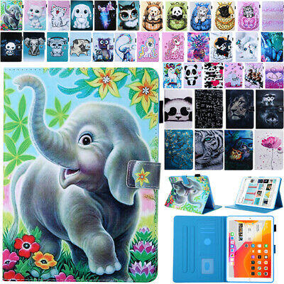 For iPad 7th Gen 5/6th Gen New Patterned Magnetic Flip Leather Wallet Case Cover