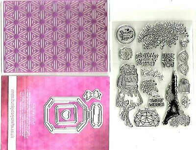 Hunkydory Parisienne / Fashionista Stamps, Die-Cut, Cards, Embossing Folder