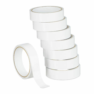 8 Double-Sided Transparent Adhesive Tape Rolls 24 mm