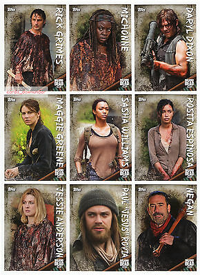2017 TOPPS Walking Dead Season 6 148 Card Mini-Master Set with all 4 Chase Sets!