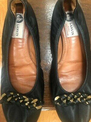 Black Lanvin ballet shoes