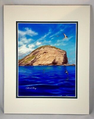 (RABBIT HEAD)by Patrick Ching,Calm Kona Wind Day The Island Of Manana Floating.