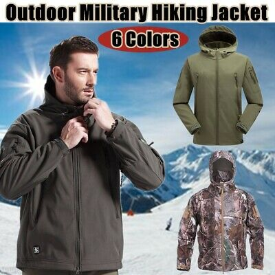 Men's Jacket Tactical Coat Outdoor Waterproof Hiking Military Softshell Fishing