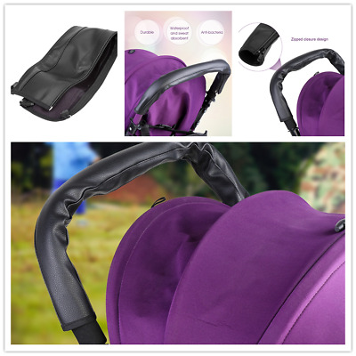 PU Leather Baby Pram Pushchair Stroller Bumper Handle Cover Protective Case