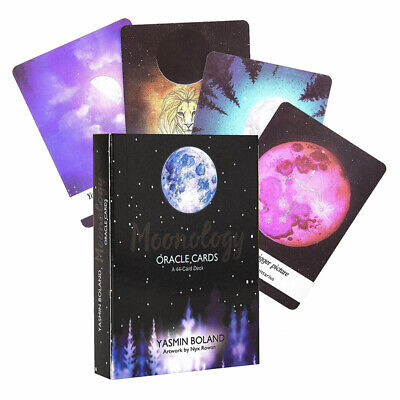 Moonology Oracle Cards: A 44-Card Deck and Guidebook by Yasmin Boland Gift