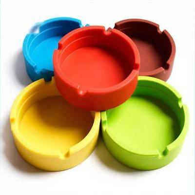 Silicone Round Ashtray Heat Resistant Portable Camouflage Ashtray Container R