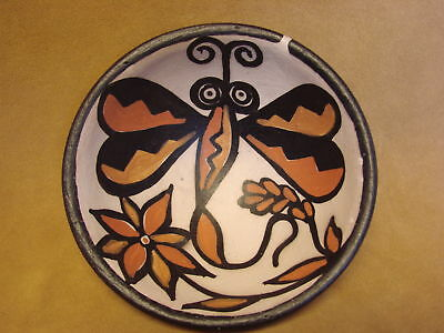 Santo Domingo Kewa Handmade & Painted Butterfly Bowl By Billy Veale! Native Amer