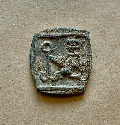 Byzantine lead seal/bleisiegel of the Guest House of Apameia, Syria. Important!