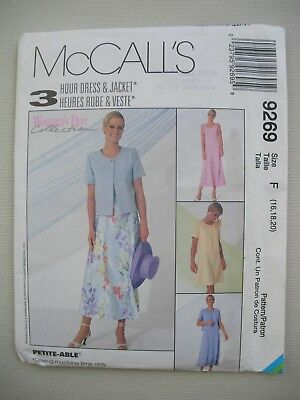 UNCUT McCalls Sewing Pattern 9269 - Womens Misses Dress & Jacket - Sizes 16-20