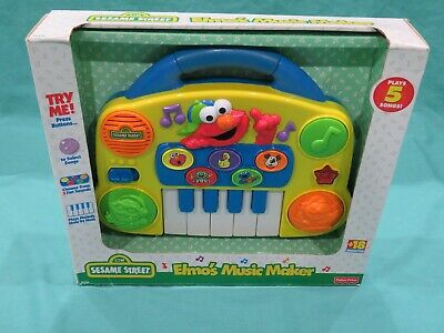 New Vintage Sesame Street Elmo's Music Maker Piano 1998 Fisher Price Baby Toy