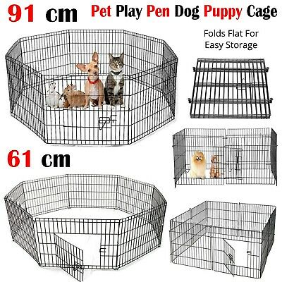 Pet Puppy Playpen Foldable Heavy Duty Cozy Enclosure Welping Dog Indoor Run Cage