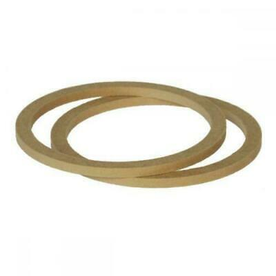 """6.5"""" 165mm Pair of MDF Speaker Spacer Mounting Rings 8mm Thick ID 144mm ED 166mm"""