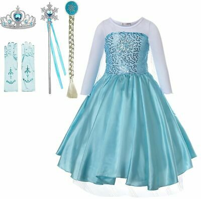 Xmas Kids Girls Fancy Dress Up Cinderella Princess Costume Party Outfit New