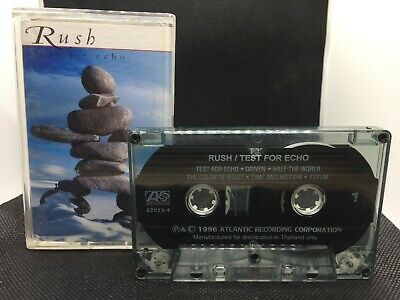Rush Test For Echo (Atlantic 1996) Progressive Rock Kassette Audio Cassette Tape