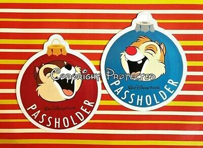 Disney World Annual Passholder CHIP DALE MAGNETS 2019 Holiday Christmas REPLICA