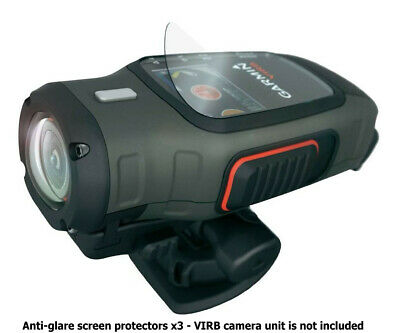 Garmin VIRB & Elite Action Camera Anti-Glare Screen Protectors x3 (Brand New!)