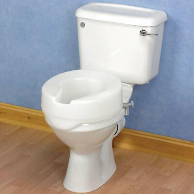"Raised Toilet Seat 4"" Elevated Seat Toileting Disability Mobility aid FREE POST"