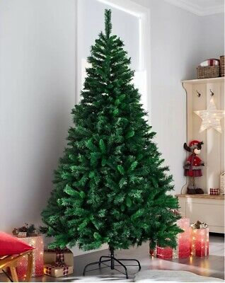 4ft 5ft 6ft 7ft Artificial Christmas Pine Tree Colorado Spruce Xmas Metal Stand