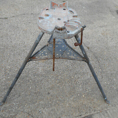 """Rothenberger 460 Tristand 6 """" Capacity Pipe Vice Support Stand Used Condition"""