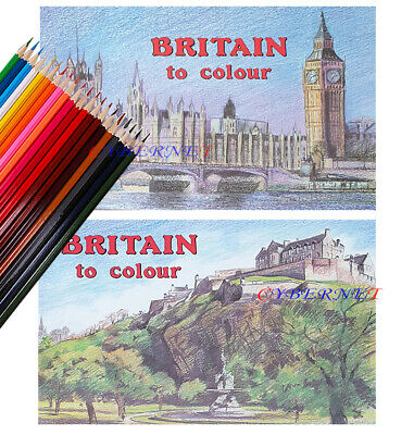 Britain To Colour Adult Colouring Books Book For Watercolour Paint Pencils