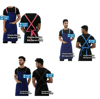 Denim Chef Bib Aprons with Pocket -see handychef for chef jackets,pant,caps,