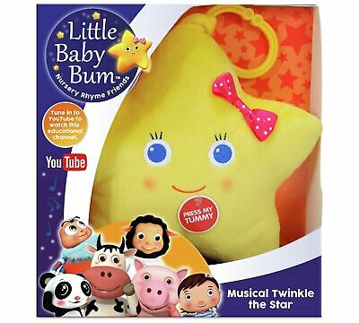 NEW Official Little Baby Bum Musical Twinkle The Star Plush Baby Toy