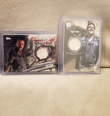 Topps The Walking Dead Rick Negan 4 Card Relic Patch Lot Mint