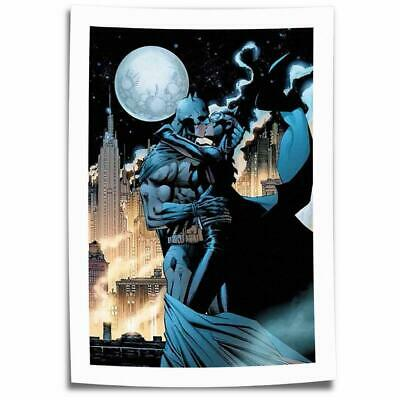"16""x26""Catwoman kiss batman HD Canvas prints Painting Home decor Room Wall art"