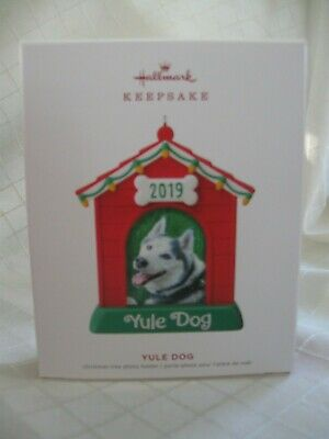 Hallmark 2019 YULE DOG Photo Holder Keepsake Ornament Puppy Doghouse NIB