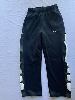 NWT Nike Boys Youth MD Dk Gray//Black Embroider Swoosh Therma-Fit Sweat Pants YMD