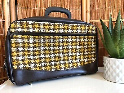 Vintage 60s JAPAN Carry-On SMALL LUGGAGE Retro Suitcase OVERNIGHT BAG Travel MCM