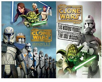 Star Wars: The Clone Wars - The Complete Seasons 1-5 (DVD, 2013, 19-Disc Set,...